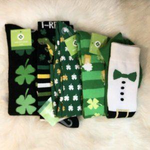 5 Pair St. Patricks Day Knee High Novelty Socks